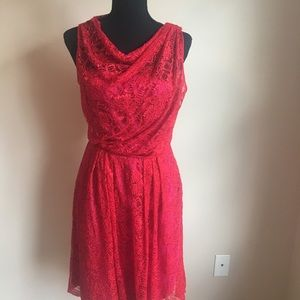 Limited, Red Lace Dress, Satin Lined, Size 4, NWTS